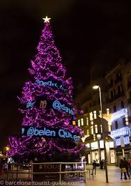 how to put lights on a tree outside christmas light displays in barcelona