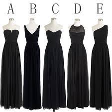 simple dresses black cheap simple mismatched chiffon bridesmaid dresses