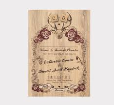 winter wedding invitations deer winter wedding invitation by something kinda