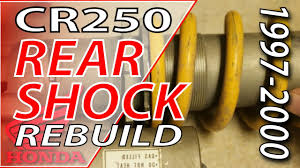 rear shock rebuild 1997 1999 honda cr250 fix your dirt bike