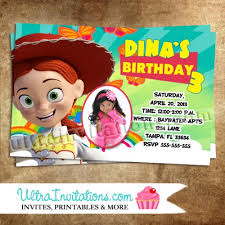 jessie toy story birthday party invitations printable diy or