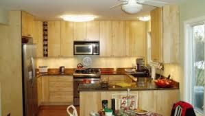 Unfinished Cabinet Small Kitchen Design Ideas U Shape Beige Unfinished Cabinet Dark