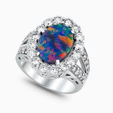 black opal engagement rings lightning ridge collection black opal jewelry and gemstones