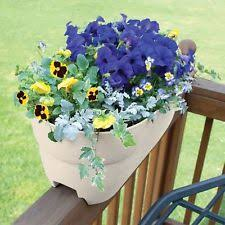 plastic oval garden railing planters ebay