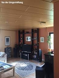Wohnzimmer Decke Wohnzimmer Wird Modern Helle Decke Anstatt Holz