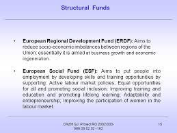 erdf si e social crzm gj proiect ro 2002 european structural funds and its programme
