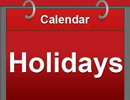 general holidays questions
