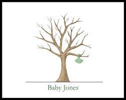 baby fingerprint tree baby shower gifts pinterest