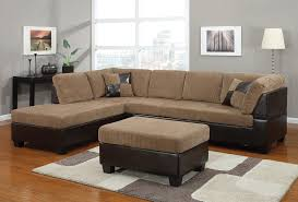 Light Colored Leather Sofa Cream Corduroy Padded Sofa With Dark Brown Sofa Undercoat Of