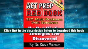popular book act prep red book 320 math problems with solutions