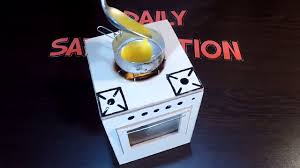 How To Make Doll Kitchen How To Make Diy Miniature Real Working Kitchen Stove Miniature