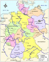 map of germany showing rivers german map in german major tourist attractions maps