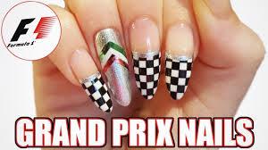diy f1 grand prix nail art youtube