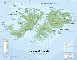 Topographical Map Of Florida by Topographical Map Of The Falkland Islands Las Islas Malvinas