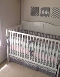 Gray And Pink Crib Bedding Light Pink And Grey Nursery Bedding Thenurseries