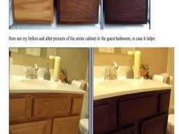 how to stain kitchen cabinets without sanding image of staining