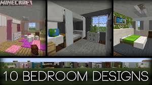 minecraft 10 bedroom designs plus tips youtube