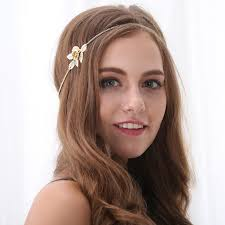 chain headband wholesale simple fashion gold tone flower chain headband yiwuproducts