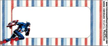 captain america free printable candy bar labels oh my fiesta