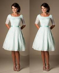 modest bridesmaid dresses vintage mint lace knee length modest bridesmaid dresses with