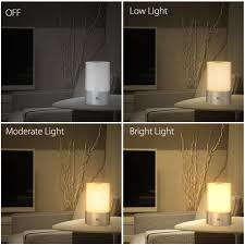 Bedside Table Lamp by 1byone Bedside Dimmable Touch Sensor Table Lamp With Color