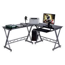 Corner Laptop Desks For Home L Shape Computer Desk Pc Glass Top Laptop Table Workstation Corner