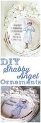 make a shabby christmas angel ornament white lace cottage the