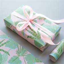 christmas kraft wrapping paper plant wrapping european gift wrap artware packing package