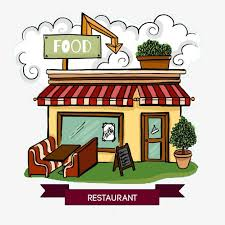 restaurant appearance cartoon restaurant exterior design