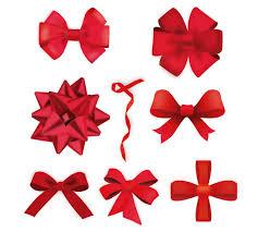 christmas ribbon vector christmas ribbons vector