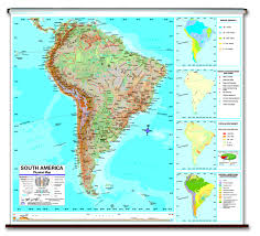 Universal Map Political And Physical Map Of South America South America