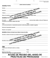 dental hipaa notice of privacy practices form