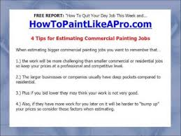 Bidding Interior Paint Jobs 4 Tips For Estimating Commercial Painting Jobs Youtube