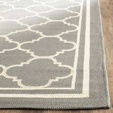 Indoor Outdoor Rug Safavieh Courtyard Collection Cy6918 246 Anthracite