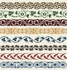 colorful ornamental borders vector ai format free vector