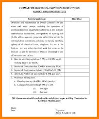 resume template sle electrician quote quation sle endo re enhance dental co