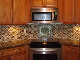 painted tiles for kitchen backsplash painted tile backsplash mediterranean kitchen seattle