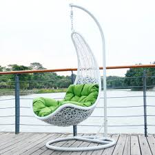 gripping patio furniture swing chairs with lime green papasan