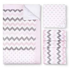 gray and pink chevron nursery bedding thenurseries