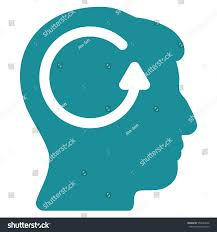 Soft Blue Color Refresh Head Memory Vector Pictogram Style Stock Vector 556047646