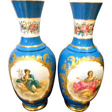 Antique Vases For Sale Antique Old Paris Porcelain Vases From Aliceaantiques On Ruby Lane