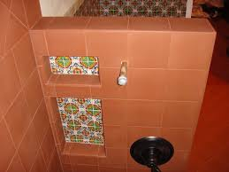 Mexican Bathroom Gerona Mexican Tile Used In A Niche Inside A Bathroom Mexican