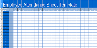 free printable daily student and employee attendance sheet