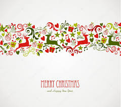 merry christmas decorations elements border u2014 stock vector