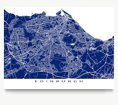 Edinburgh Map Edinburgh Map Print Scotland Colours U2013 Maps As Art