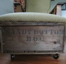 Diy Tufted Storage Ottoman by Diy Storage Ottoman Rescued Design The Traveling Antiquer