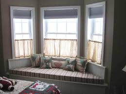 cream walls and curtains neutral colour scheme curtains for bay bay window designs for homes bed in bay window