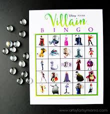 free printable disney villain bingo artsyfartsymama eva