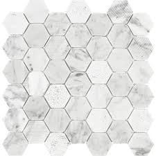 shop anatolia tile carrara honeycomb mosaic natural stone marble