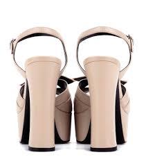 saint laurent candy 80 leather platform sandals rose poudre brown